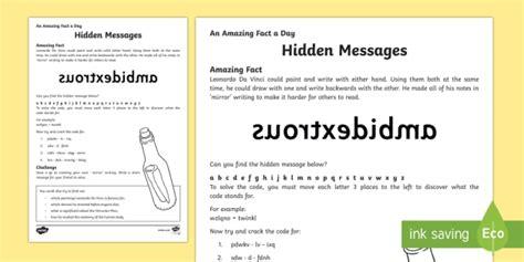 messages worksheet activity sheet