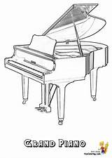 Piano Coloring Musical Instrument Grand Harpsichord Template Yescoloring Keyboard Instruments Sketch Pianos Mighty sketch template
