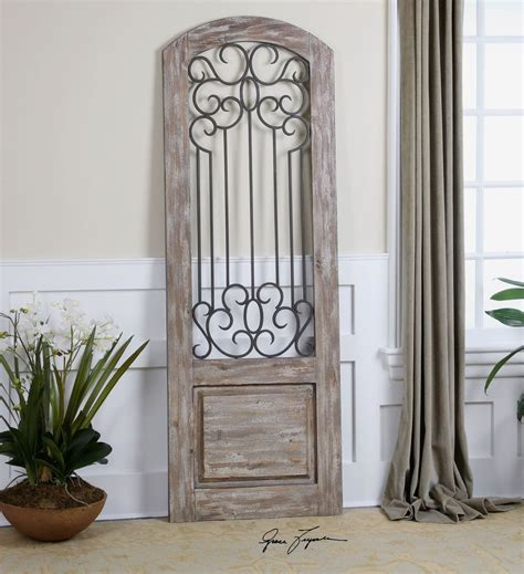 wrought iron gate architectural door wood iron wall floor