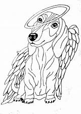 Dachshund Rainbow Bridge Coloring Pages Angel Dog Haired Angels Scary Dachshunds Daschund Template Sketch Quotes sketch template