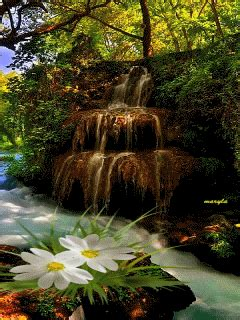 Animated Waterfall Wallpapers For Mobile - free animated nature waterfall mobile wallpaper by