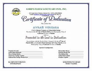 best photos of baby certificate template free printable With baby dedication certificates templates