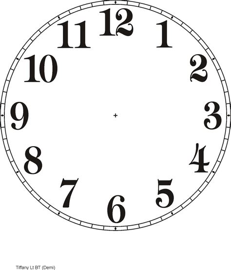 printable clock templates     examples
