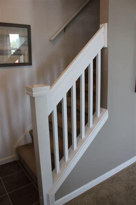 white stair railing modular homes  manorwood homes