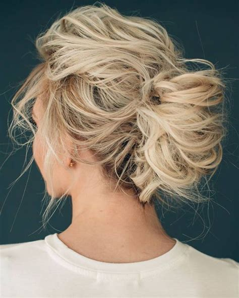 Updo Hairstyles Pictures by Picture Of Wedding Updo For Medium Hair With No Accessories