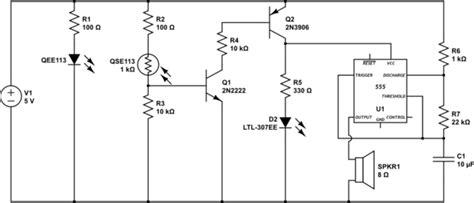 Transistors Emitter Detector With Timer Alarm