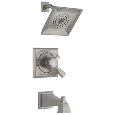 delta dryden faucet home depot delta dryden single handle 1 spray tub and shower faucet