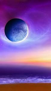 Purple, Moon, Iphone, 5, Wallpaper, 640x1136
