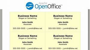 Printing business cards in openoffice writer youtube for How to make a business card in openoffice