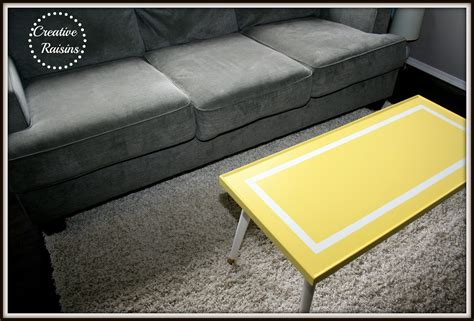 bright colored coffee table creative raisins mellow yellow coffee table