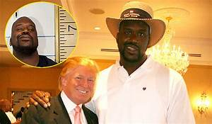 Trump is using Shaquille O'Neal to measure perfect height ...