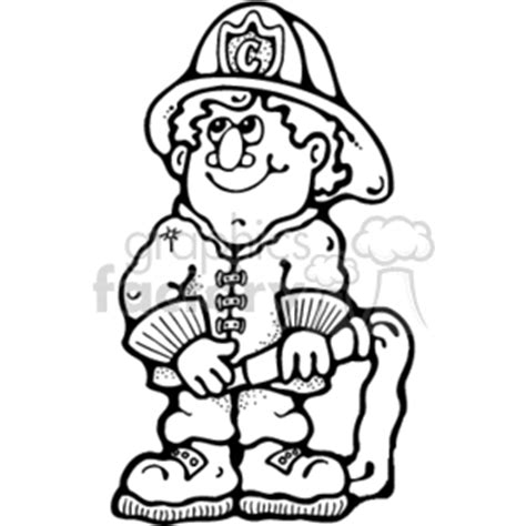 13000 firefighter clipart black and white clip fighters and more related vector