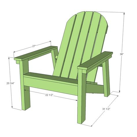 ana white  adirondack chair plans  home depot dih workshop diy projects