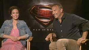 Diane Lane & Kevin Costner - Man of Steel Interview HD ...