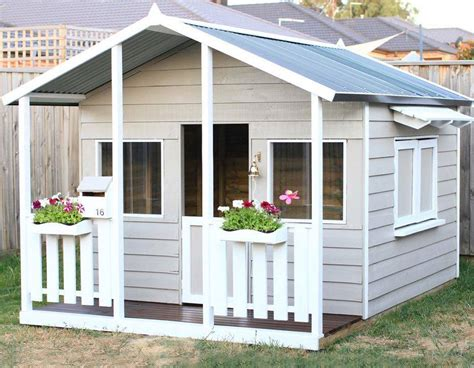 kids wooden cubby houses kids outdoor cubby house ebay