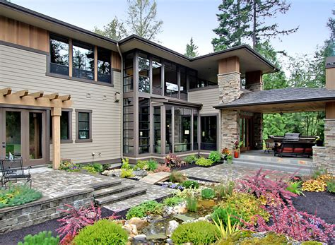 contemporary prairie style house plans small home one extraordinary modern prairie style home amazing