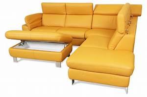 Ecksofa Mit Rundecke : ecksofa leder gelb inspirierendes design f r wohnm bel ~ Indierocktalk.com Haus und Dekorationen