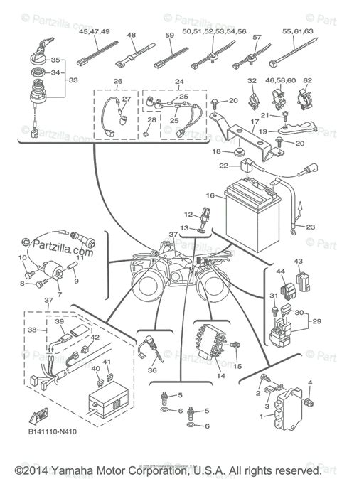 yamaha atv 2014 oem parts diagram for electrical 1 partzilla