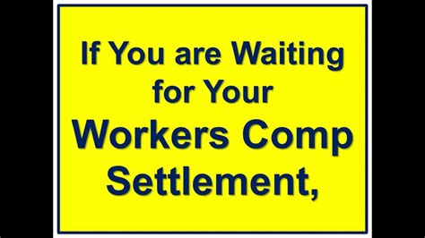 workers compensation settlement workers comp loan