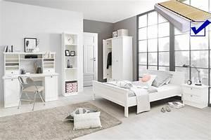 Bett 140x200 Komplett : jugendzimmer wei 7 teilig bett komplett 140x200 schrank tisch landstr m 164 ebay ~ Eleganceandgraceweddings.com Haus und Dekorationen