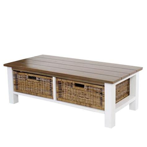 la maison du canap avis table basse de salon tula 38x112x52cm 2 paniers