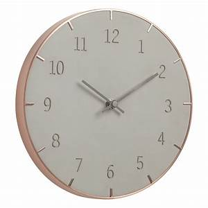 Horloge Murale Piatto 254 Cm Mtal Cuivr Bton