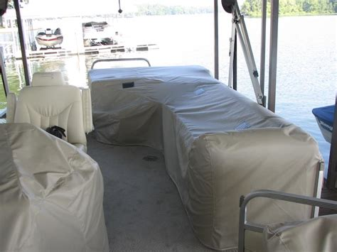 Boat Seat Protective Covers by Boat Covers For Barges And Deck Boats Black