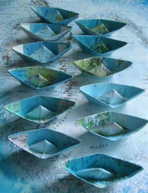 Origami Boat Decoration by Paper Boat Origami Decoration Nautical Theme