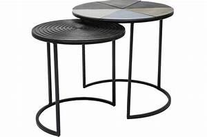 Set De Table Design : set de 2 tables d 39 appoint fetta table d 39 appoint pas cher ~ Teatrodelosmanantiales.com Idées de Décoration