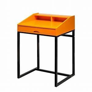 Sekretär Modern Design : neu orange schwarz sekret r holz metall top tisch home24 ~ Watch28wear.com Haus und Dekorationen