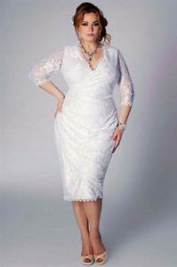 plus size wedding dresses for second marriage 3 4 sleeves With plus size second wedding dresses