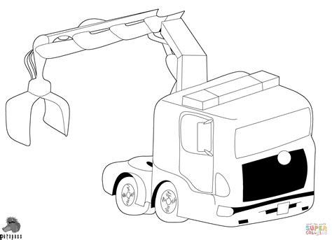 Kleurplaten Vrachtwagen Met Kraan by Truck With Crane Coloring Page Free Printable Coloring Pages