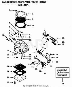 Poulan Pp425 Gas Saw  425 Gas Saw Parts Diagram For