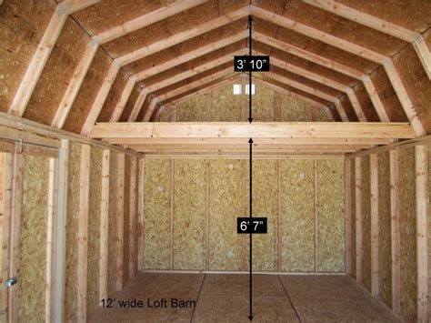 10x20 Shed Plans With Loft by Better Built Barns Loft Barns Better Built Barns