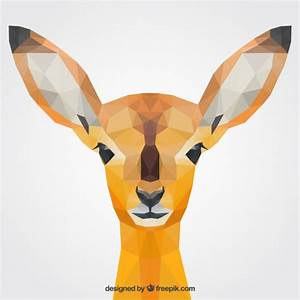 Polygonal fawn Vector | Free Download