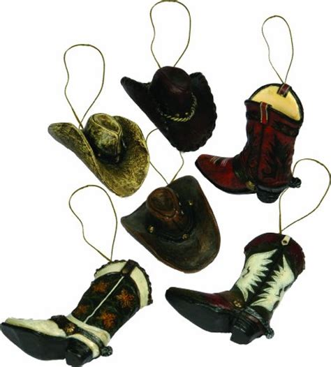 western theme christmas ornaments appeal to fans of the