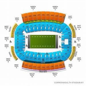 Commonwealth Stadium Ky Seating Chart Vivid Seats