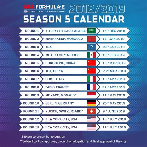 formula fia released details calendar