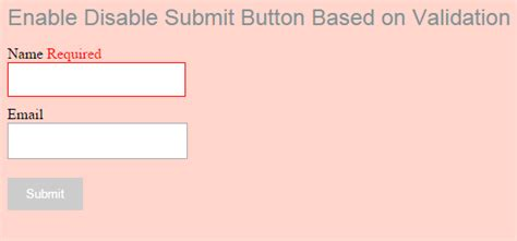enable disable submit button based on validation phppot