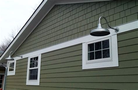 vintage style barn lights bring age character to new