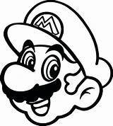 Mario Coloring Pages Super Toad Clipart Face Drawing Paper Happy Printable Bros Sheets Sword Print Colorear Mushroom Para Sticker Star sketch template