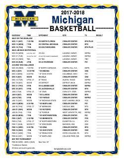 college basketball schedules