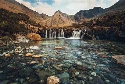 Scotland Fairy Pools Skye Water Mountains Waterfall