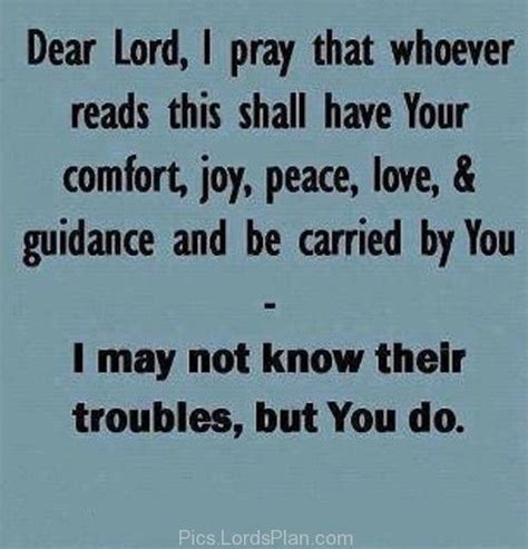 a prayer of comfort dear lord i pray whoever read this shall your
