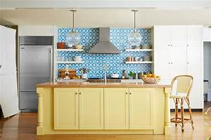 Modern kitchen blue design accent color on cabinets u for Kitchen colors with white cabinets with wall metal art contemporary