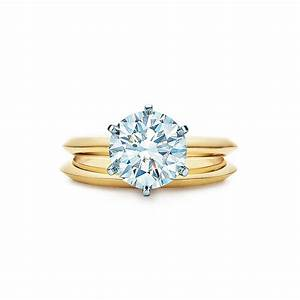 Tiffany cut engagement rings gold jewelry for Gold engagement and wedding rings