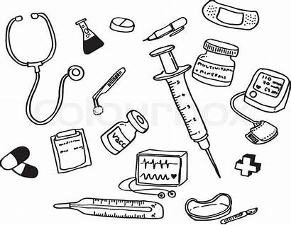 Doctor Coloring Tools Preschool Pages Theme Activities