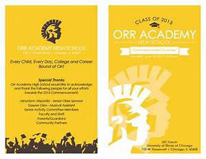 High School Graduation Program Covers Orr Academy High School 2013 Graduation Programs On Behance