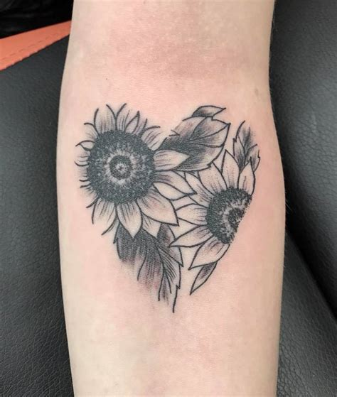 favourite flower sunflowers stencil manx tattoo