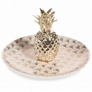 Ananas Maison Du Monde : coupelle bijoux ananas en porcelaine dor e milord maisons du monde ~ Teatrodelosmanantiales.com Idées de Décoration